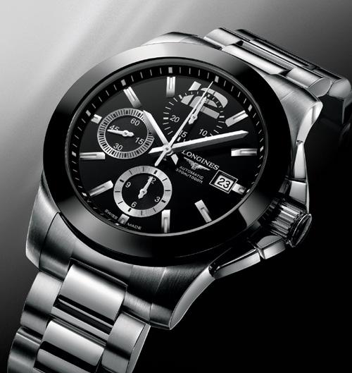 Pour célébrer son partenariat avec Roland Garros, Longines présente un chronographe Conquest avec lunette céramique
