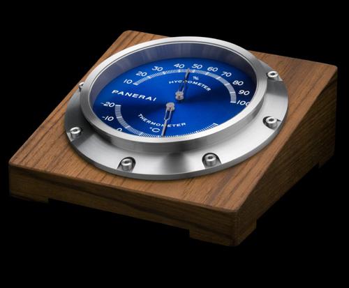 Panerai présente trois instruments de mesure : hygromètre, thermomètre et baromètre