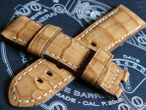 Un bracelet en alligator « nubucké » pour vos Radiomir et