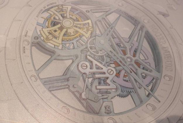 Sur ce dessin, on distingue clairement le ressort de tirette où figure des initiales squelettes. Photo Joël Chassaing-Cuvillier