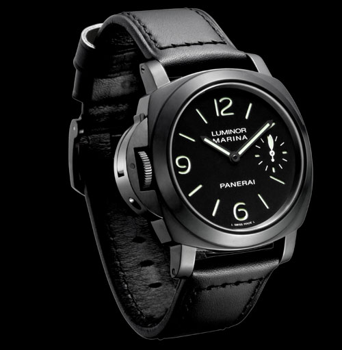 PAM 026 Luminor gaucher en pvd noir