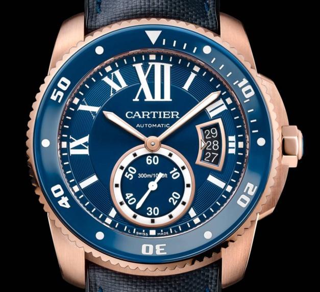 Cartier : Calibre Diver Bleue