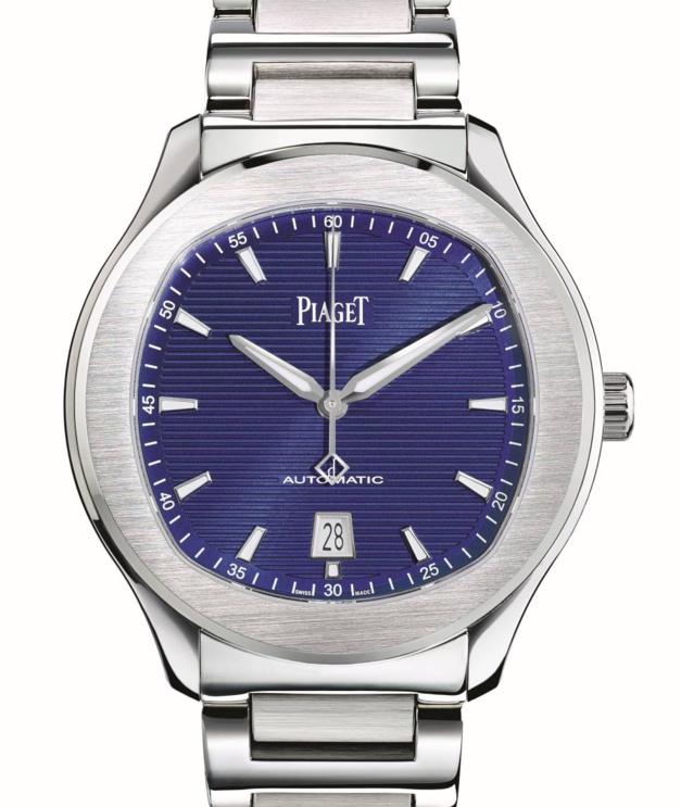 Piaget Polo S en acier cadran bleu