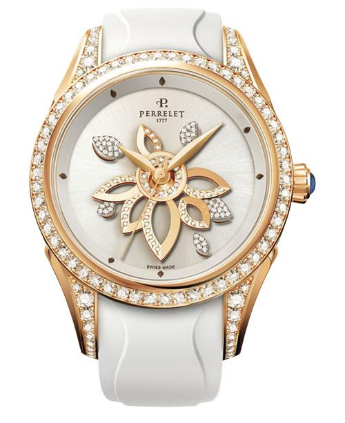 Фото Женские наручные золотые часы в коллекции Double Rotor Perrelet. купить Женские наручные золотые часы в