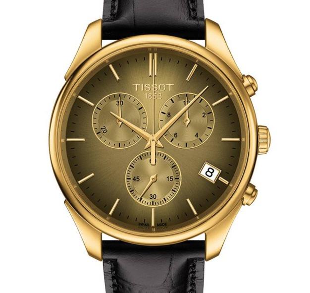 Tissot Vintage Chronograph : montre en or et à quartz !
