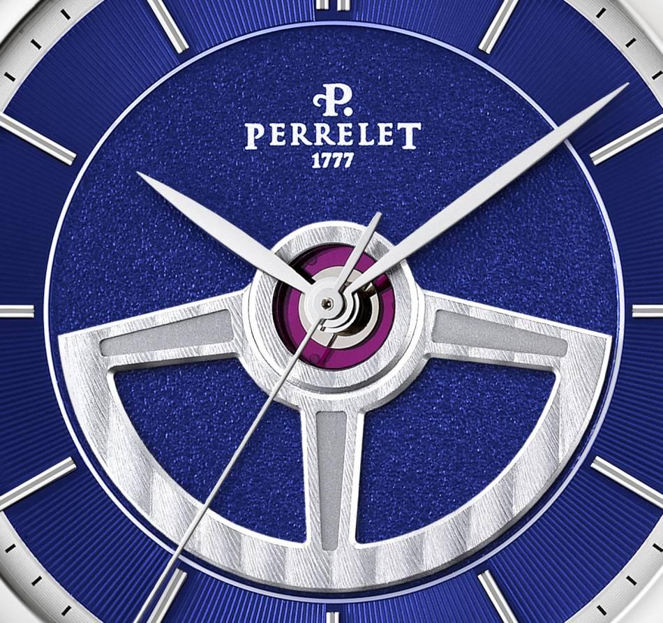 Perrelet : sa First Class Double Rotor se pare de bleu