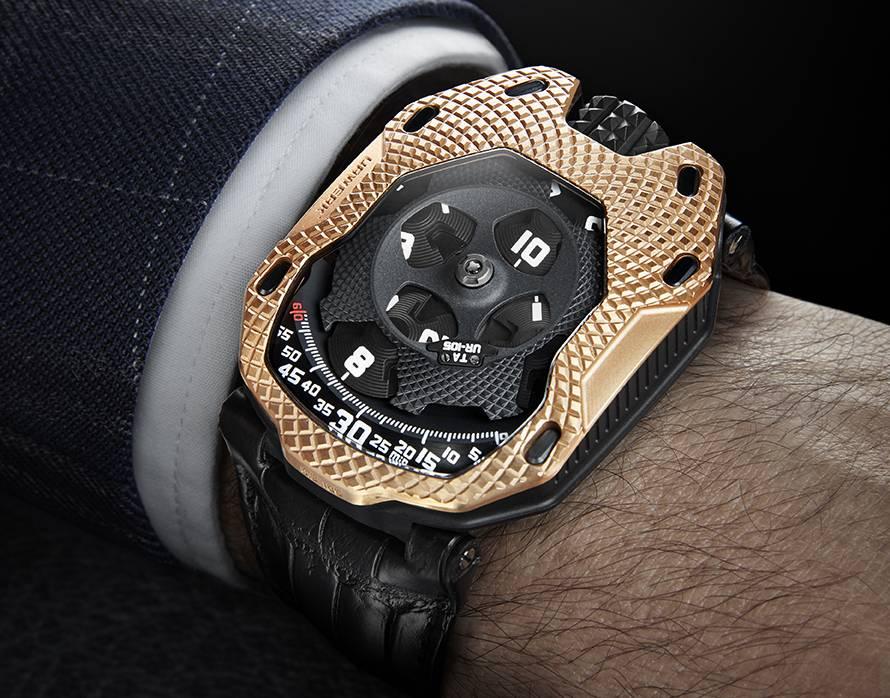 Urwerk UR-105 Raging Gold : le temps d'or