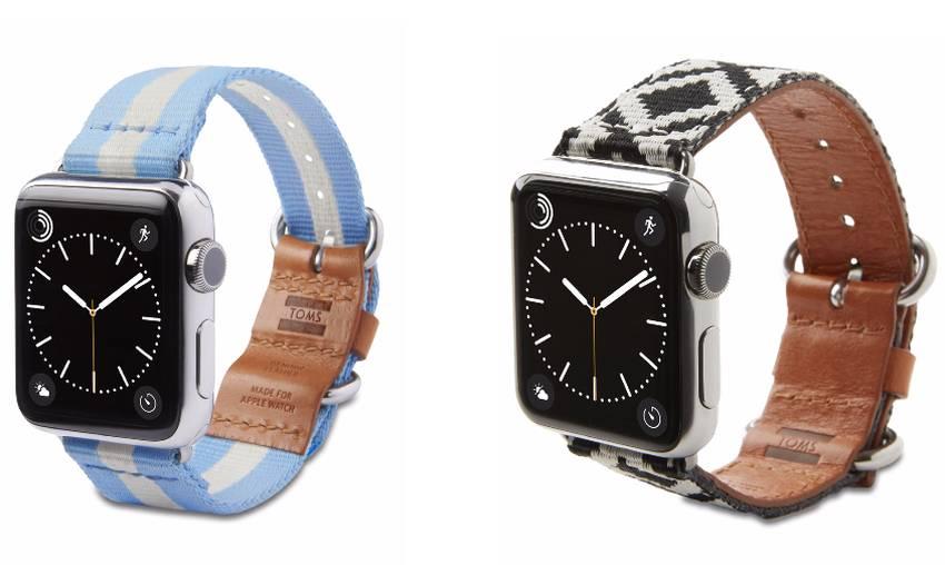 TOMS : quand des bracelets pour Apple Watch fournissent de la lumière