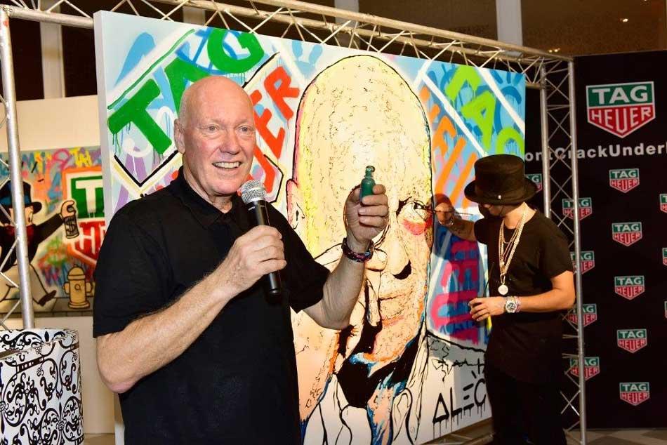 TAG Heuer, partenaire de l'artiste Alec Monopoly