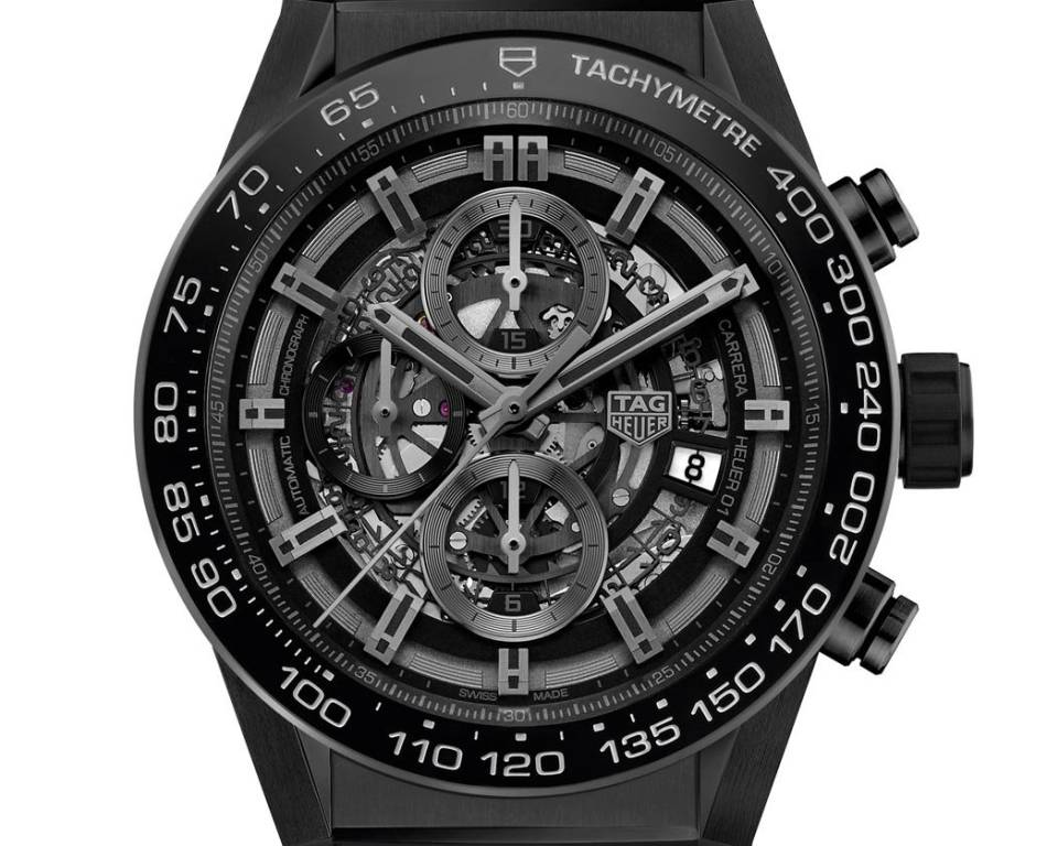 TAG Heuer Carrera Heuer-01 Chrono Full Black Mat Ceramic 45mm