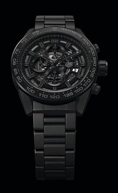 TAG Heuer Carrera Heuer-01 – In-house Chrono Full Black Mat Ceramic 45mm