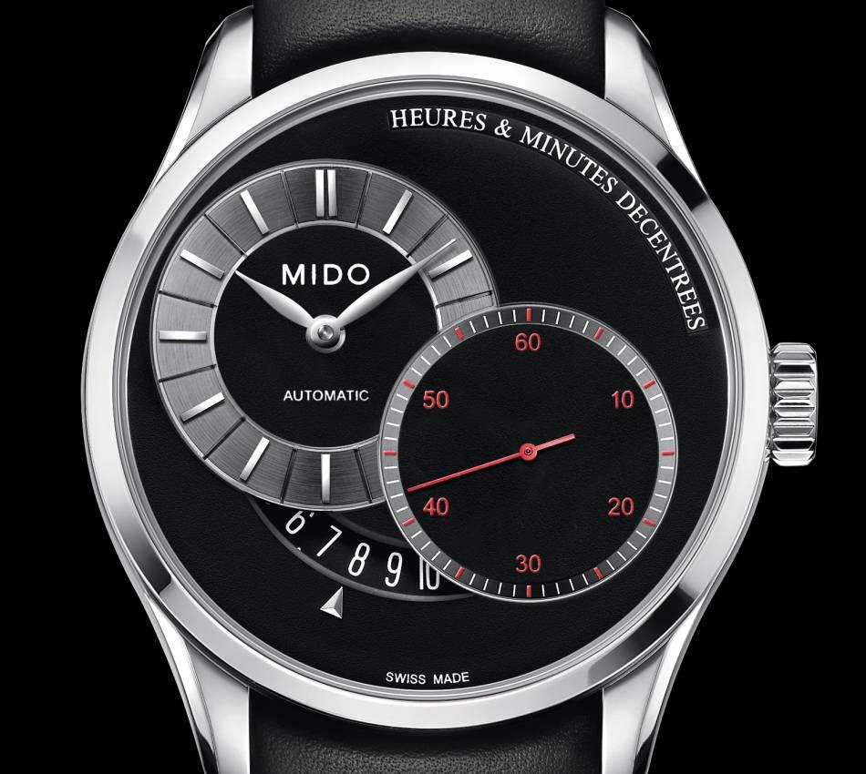 Mido Belluna : heures et minutes décentrées