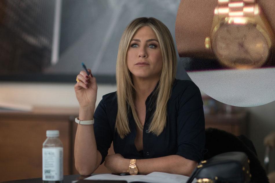 Joyeux bordel ! Jennifer Aniston porte une Rolex Daydate en or jaune