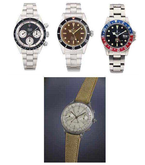 Les Rolex vintage sont les stars des ventes aux enchères de montres de luxe