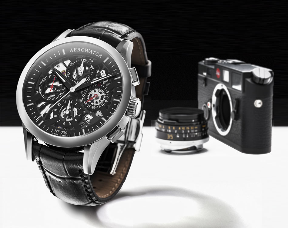Aerowatch chronographe semi-squeletté