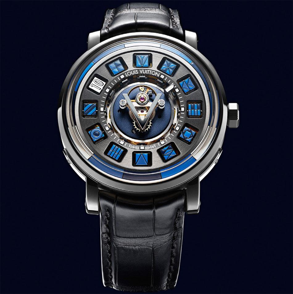 Louis Vuitton Escale Spin Time Tourbillon Central Bleue