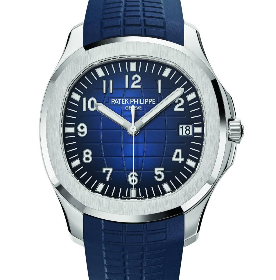 Patek Philippe Aquanaut 5168G : sport chic en or gris et cadran bleu