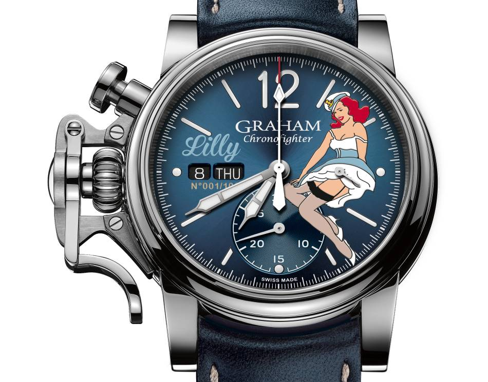 Graham Chronofighter Nose art : une pin-up au poignet