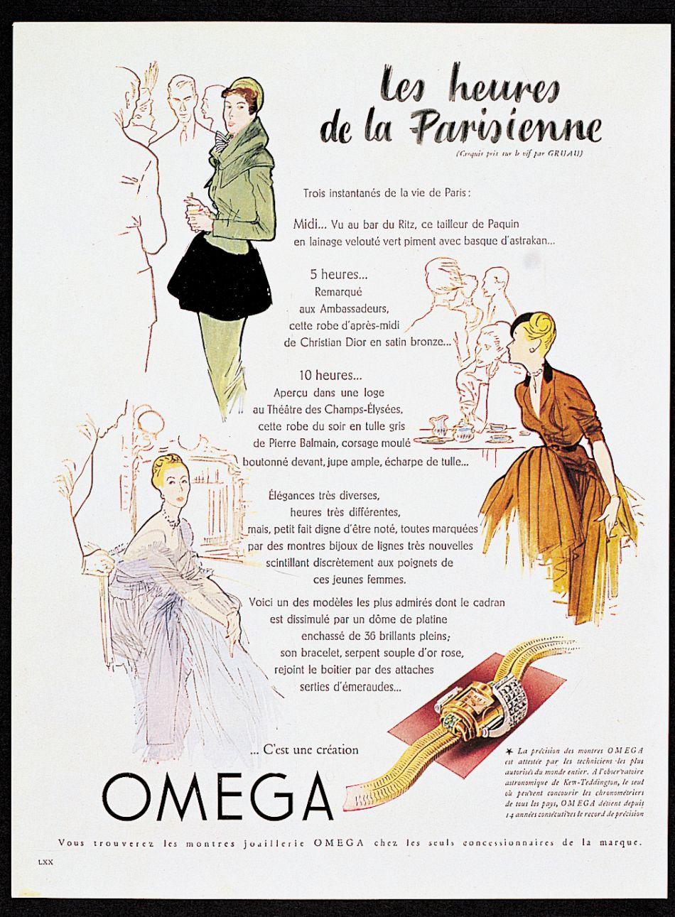 Omega et les femmes : tant la mode que la mesure du temps