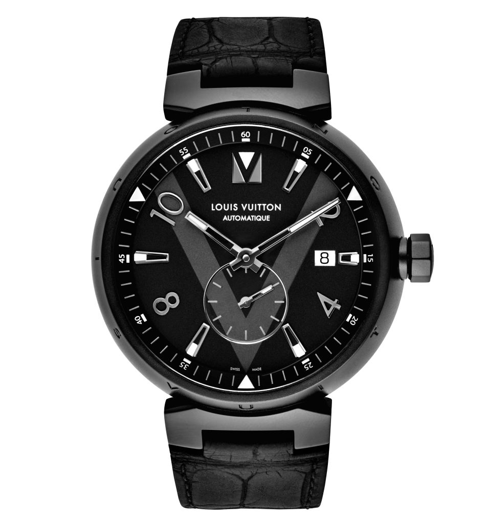 Louis Vuitton Tambour All Black petite seconde