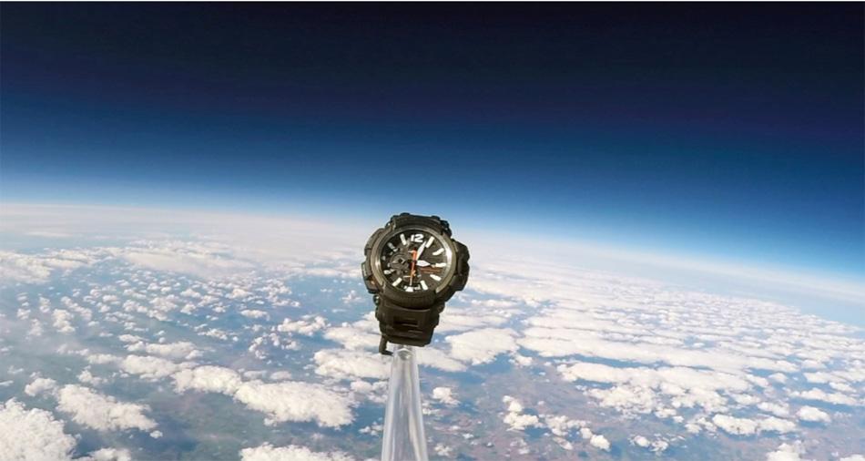 Une G-Shock dans l'espace