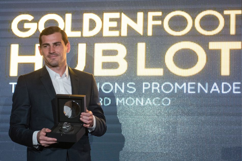 Iker Casillas : Prix Hublot Golden Foot 2017