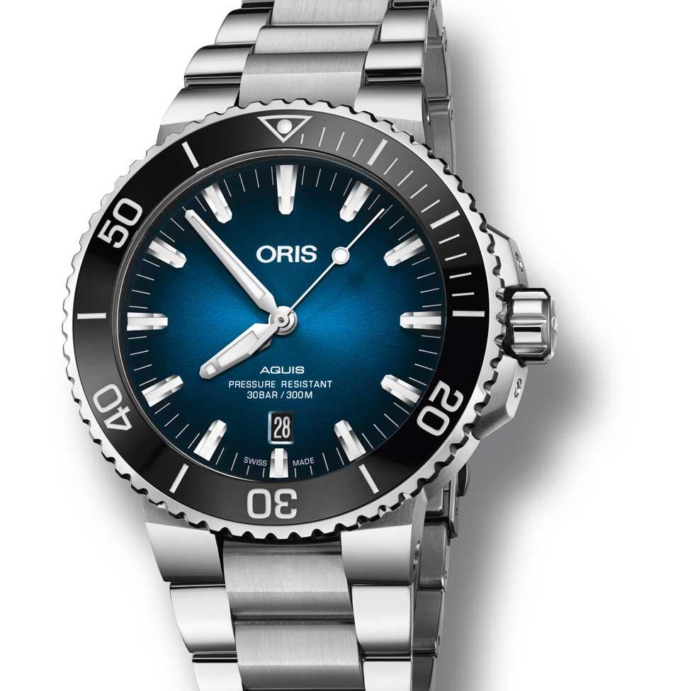 Oris Clipperton Limited Edition : cadran bleu lagon