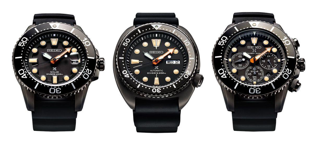 Seiko : beau trio de Prospex Solar Diver