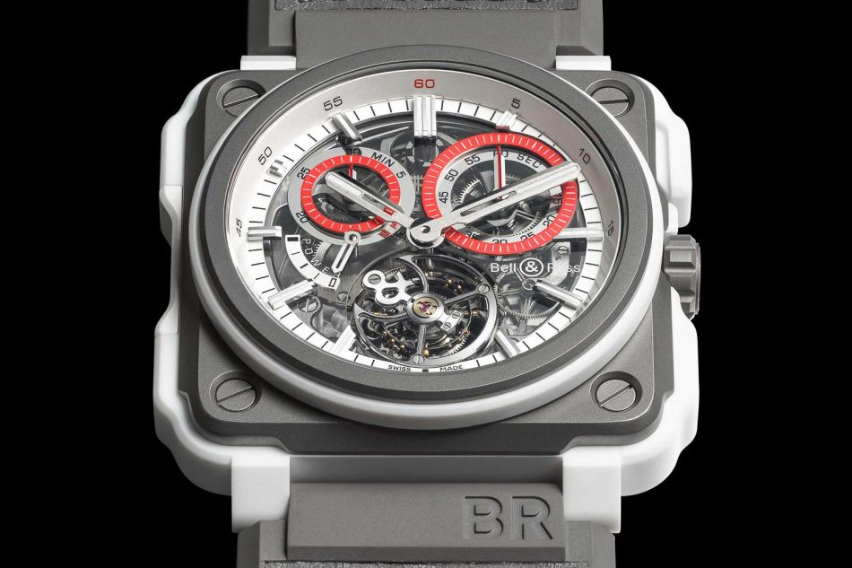 Bell & Ross BR-X1 White Hawk : tourbillon chrono monopoussoir