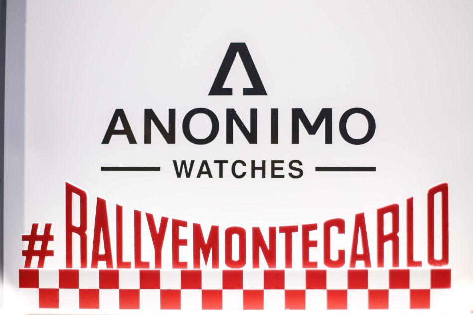 Anonimo : partenaire du championnat du monde des rallyes WRC