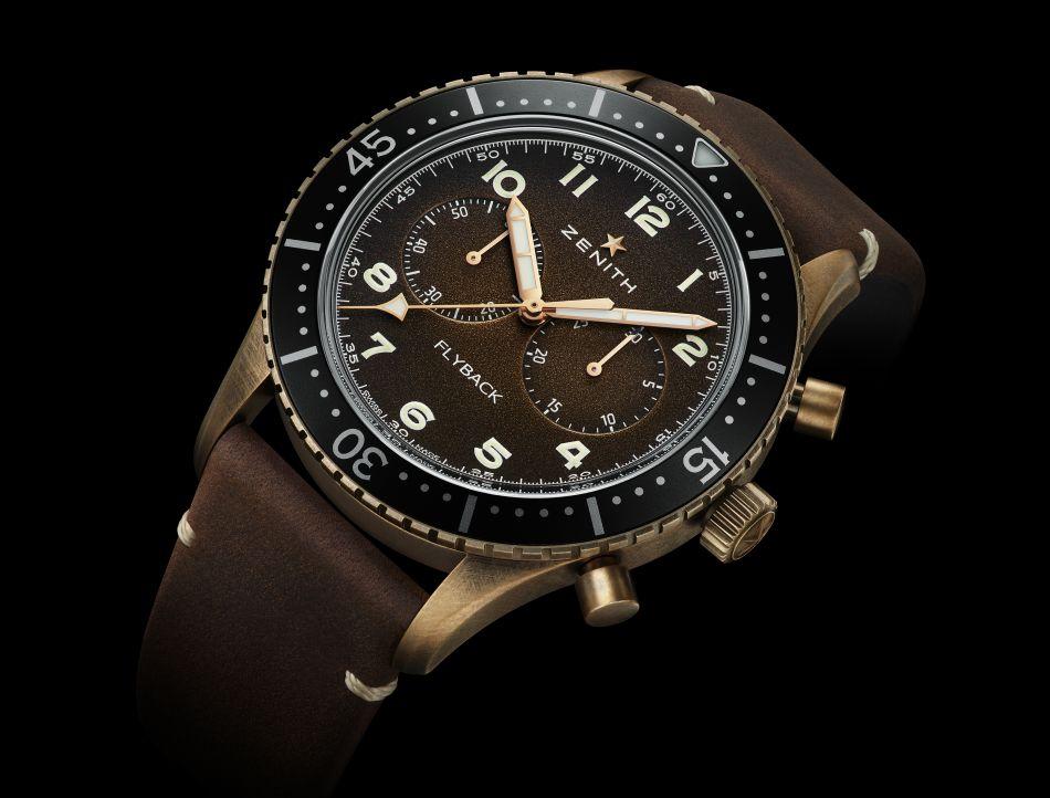 Zenith Pilot Chronometro Tipo CP-2 Flyback : bronze ou acier au choix