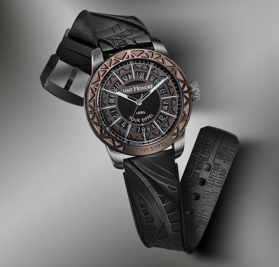 Saint-Honoré : un bracelet de montre avec de la poudre de la Tour Eiffel