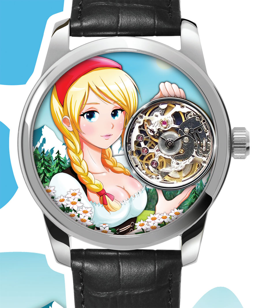 Manga'ch : la montre coquine de Claude Meylan