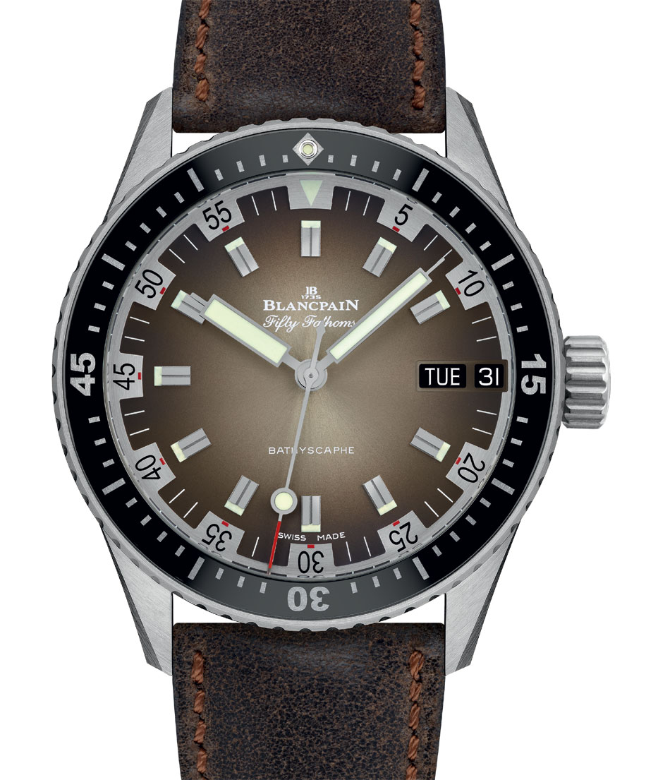 "Fifty Fathoms Bathyscaphe Day Date 70's : 500 exemplaires ""monde"""