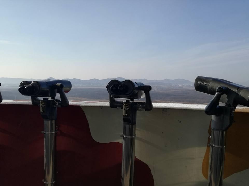 Vue sur la Corée du nord depuis la DMZ côté Corée du sud, copyright JP Tarot