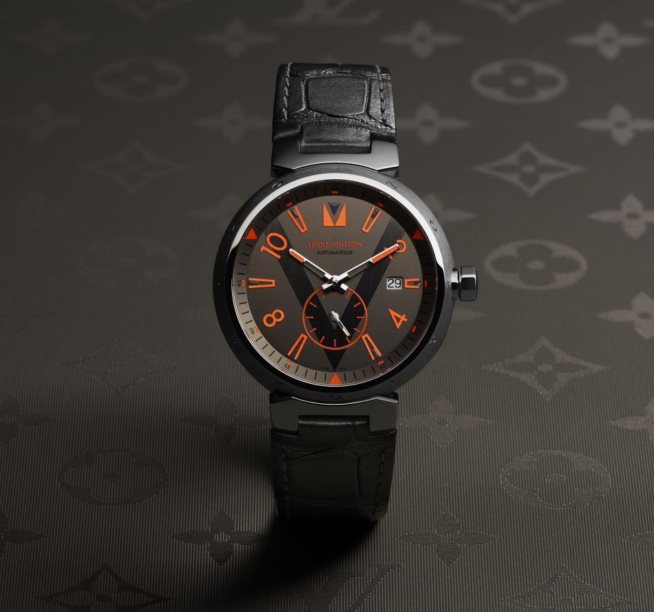 Louis Vuitton Tambour Grey titanium