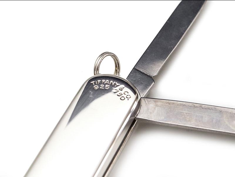 Old Time Heure : couteau suisse Victorinox en argent par Tiffany