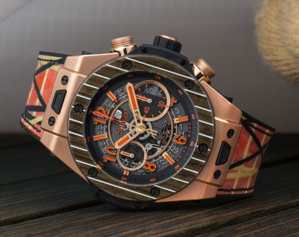 Hublot Big Bang Unico Teak Italia Independent ; chrono nautique