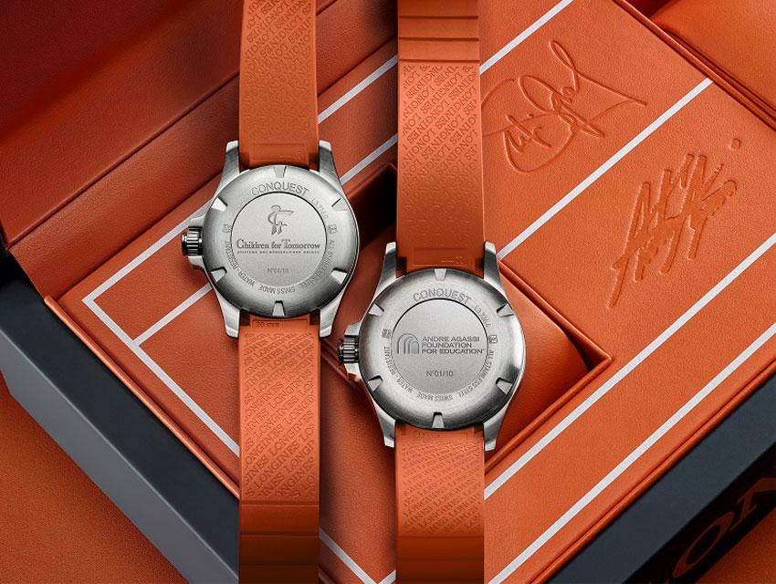 Longines : des montres aux enchères au profit des associations de Stephie Graff et Andre Agassi