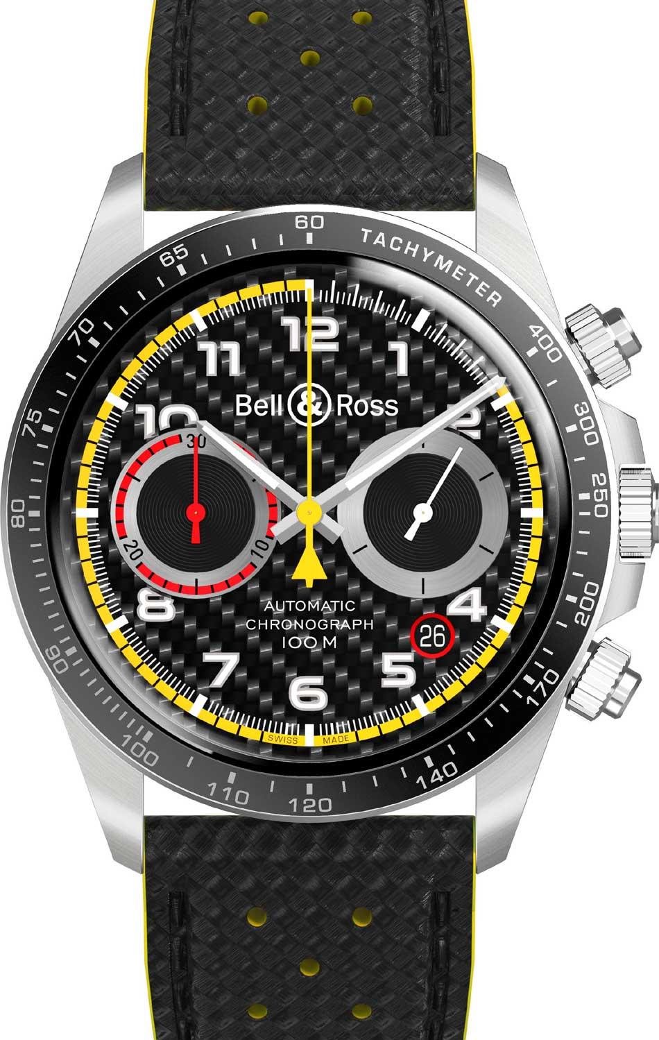 Bell & Ross BR V2-94 RS 18 : un chrono très sport pour le retour de la F1 en France