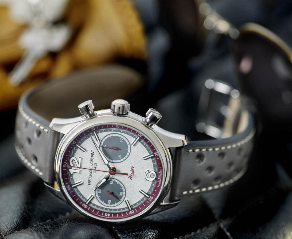 Frédérique Constant Vintage Rallye : nouvel hommage aux Healey avec un chrono bicompax