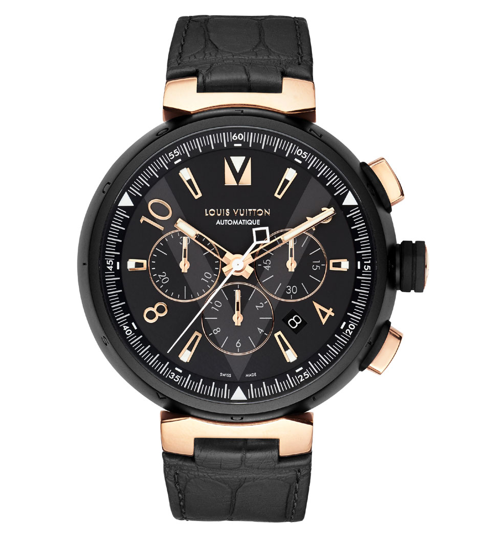 Tambour All Black and Gold : imposant chrono pour hommes