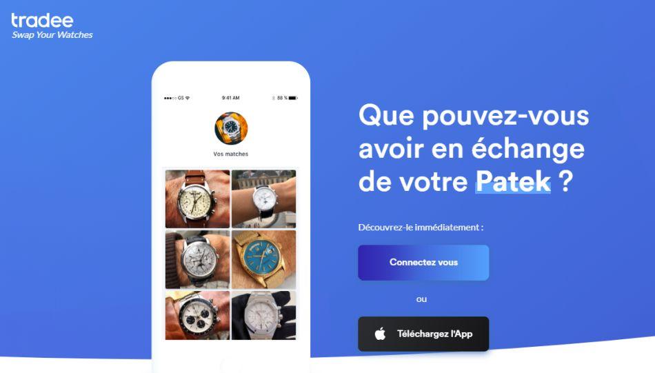Tradee Watch : une appli-réseau social pour vendre ou échanger sa montre