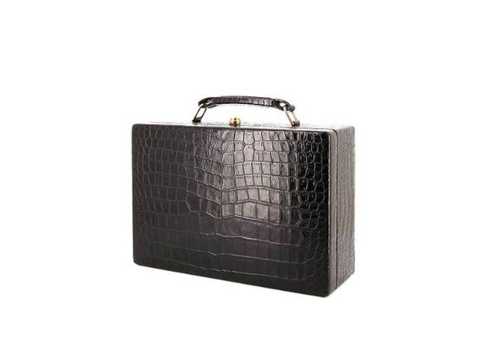Splendide coffret à bijoux vintage en crocodile Hermès chez Collector Square