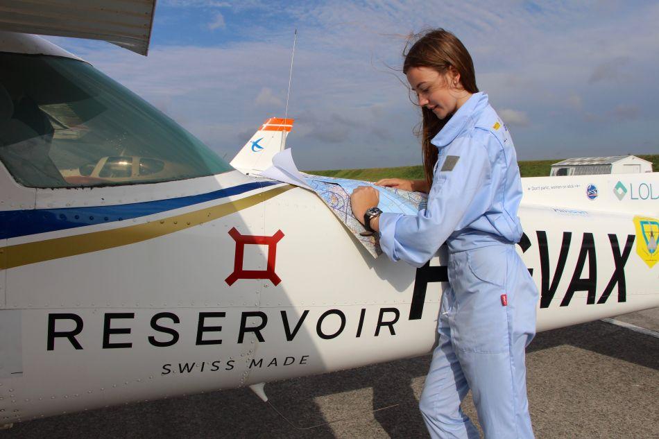 Anne Labbé et son avion