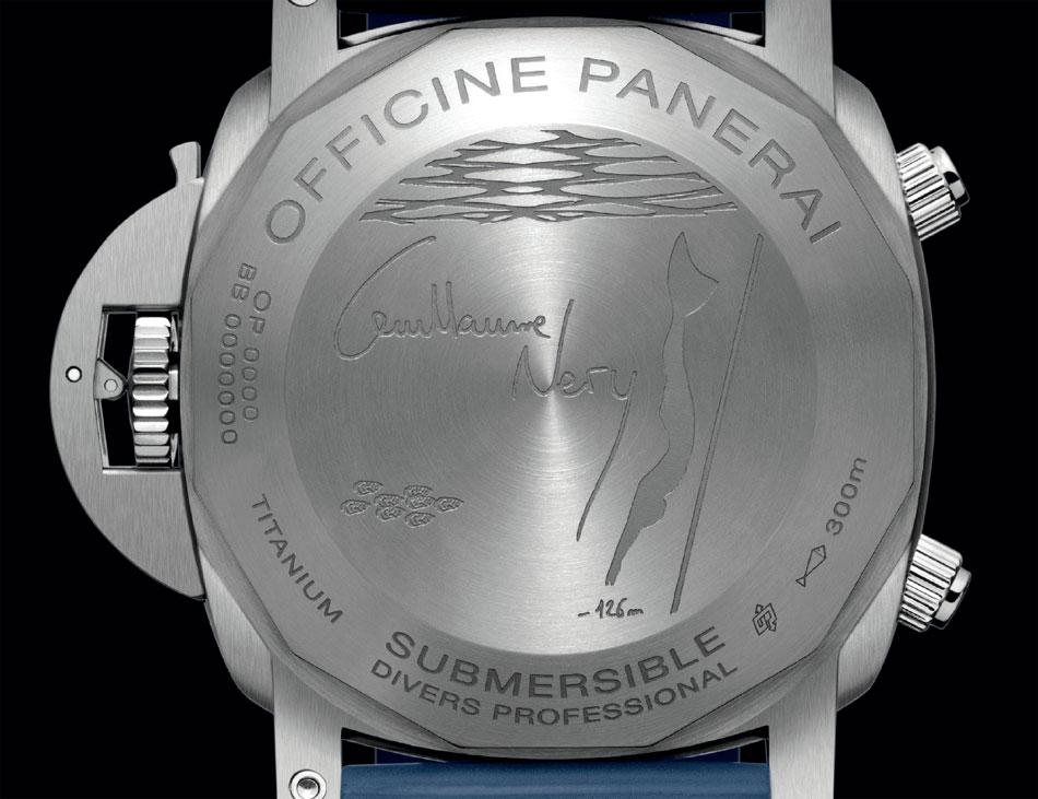 Panerai Submersible chrono édition Guillaume Néry