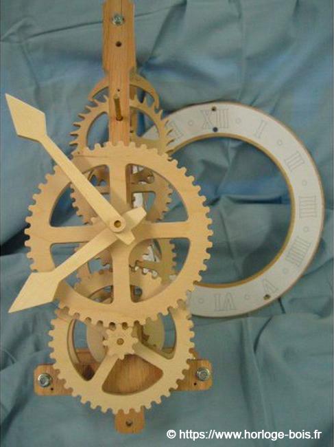 horloge en bois kit à monter soi-même
