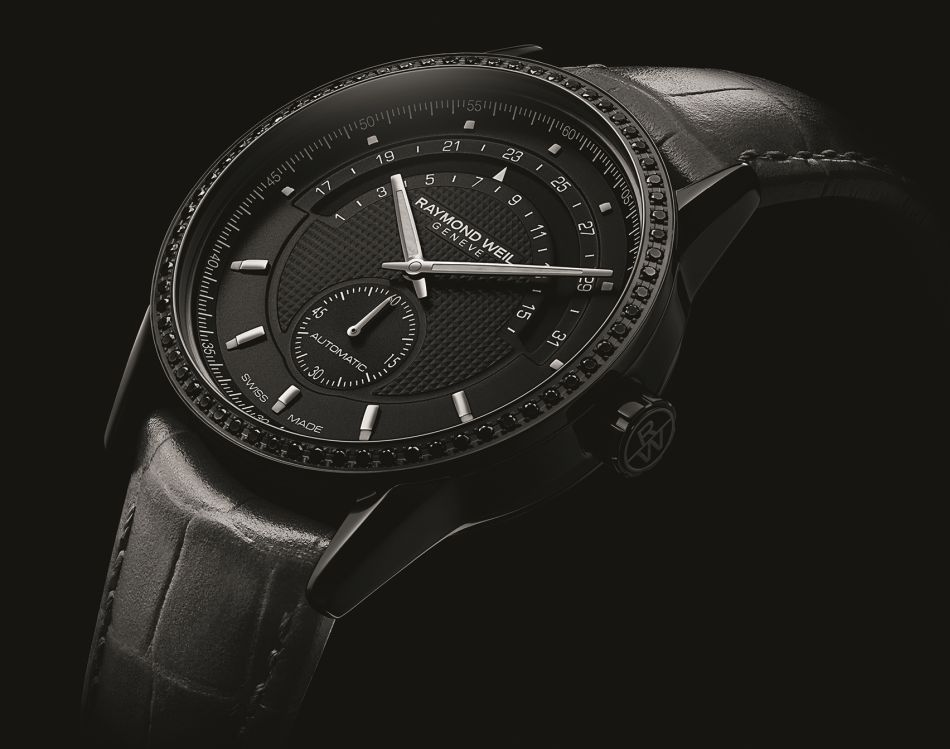 Raymond Weil Lady Freelancer automatique black diamonds