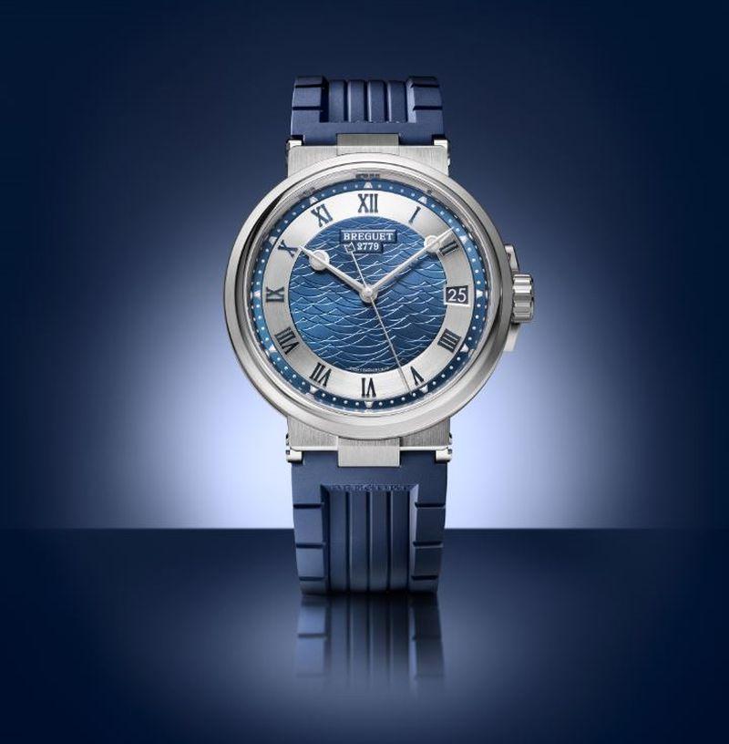 Breguet Marine 5517 titanium Bucherer Blue Editons