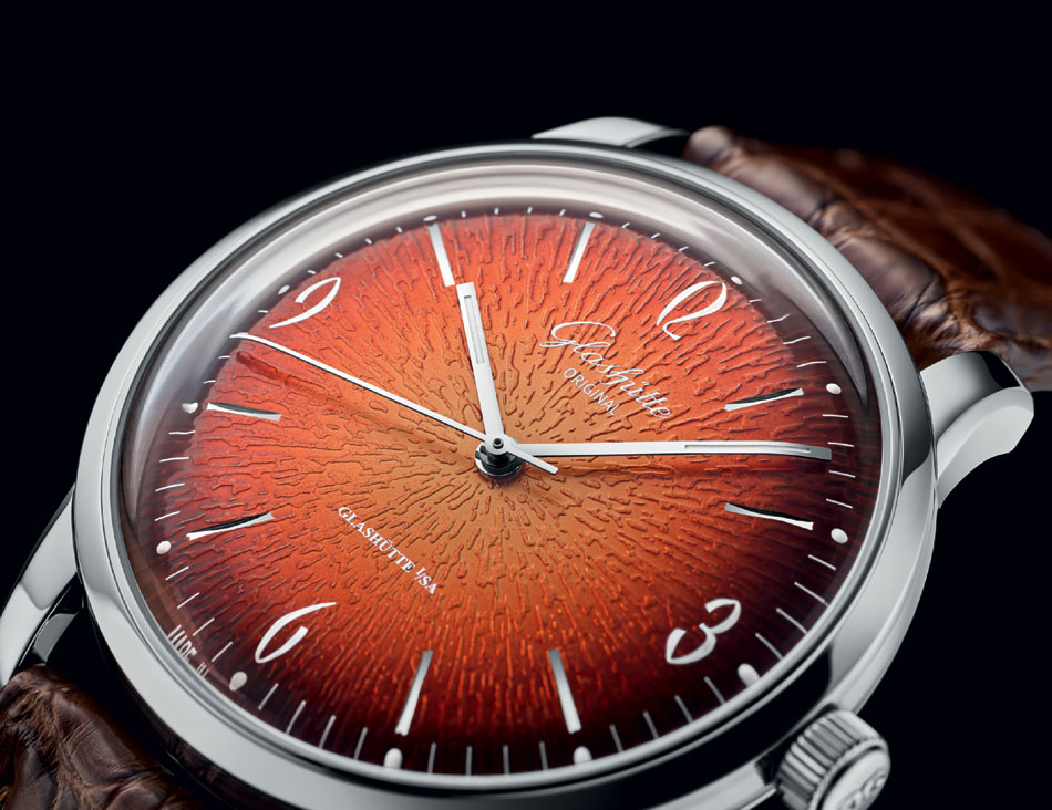 Glashütte Original : une Sixties en orange flamboyant !